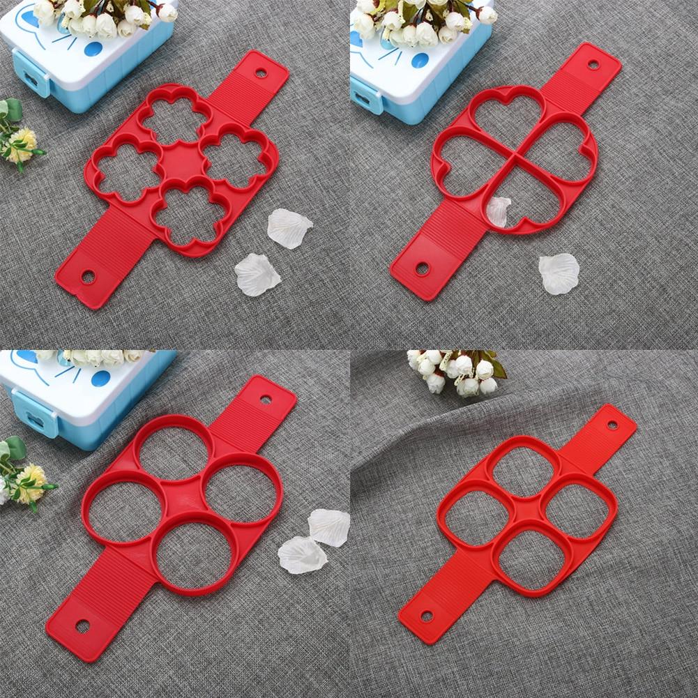 4 Holes Pandekage Maker Non Stick Ring Køkken Flip Fantastic Egg - Køkken, spisestue og bar - Foto 3