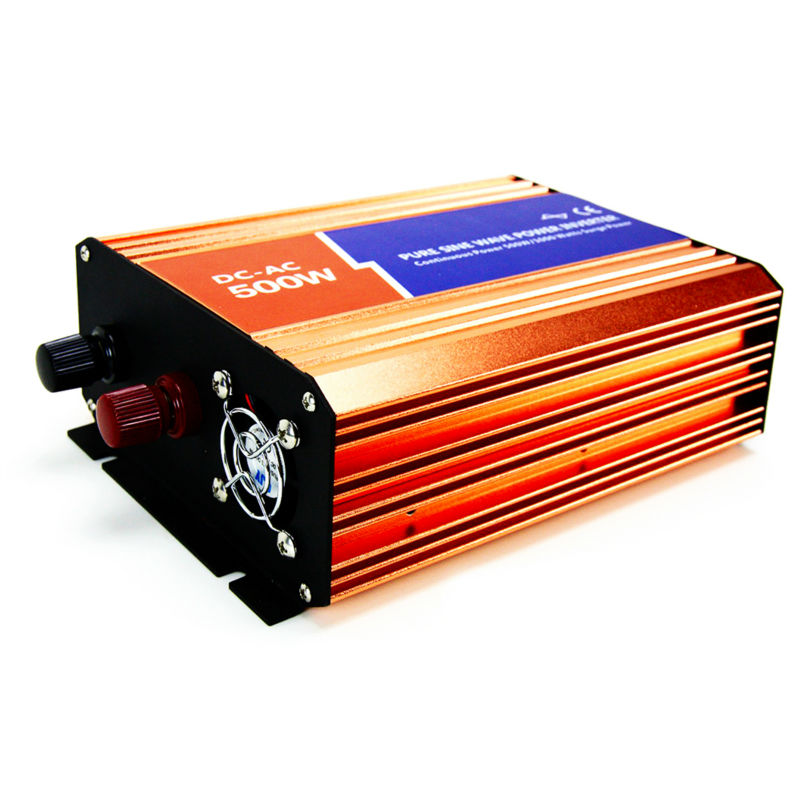 MAYLAR@ 48VDC 500W Off-grid Pure Sine Wave Solar Grid Tie Inverter DC 110V/220V For Wind Turbine or Solar Off grid System maylar 2000w wind grid tie inverter pure sine wave for 3 phase 48v ac wind turbine 90 130vac with dump load resistor
