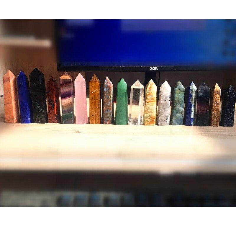 12 шт. различные кварцевые Кристалл обелиск Рейки Исцеление чакр натуральный камень и минеральный рождественские подарки