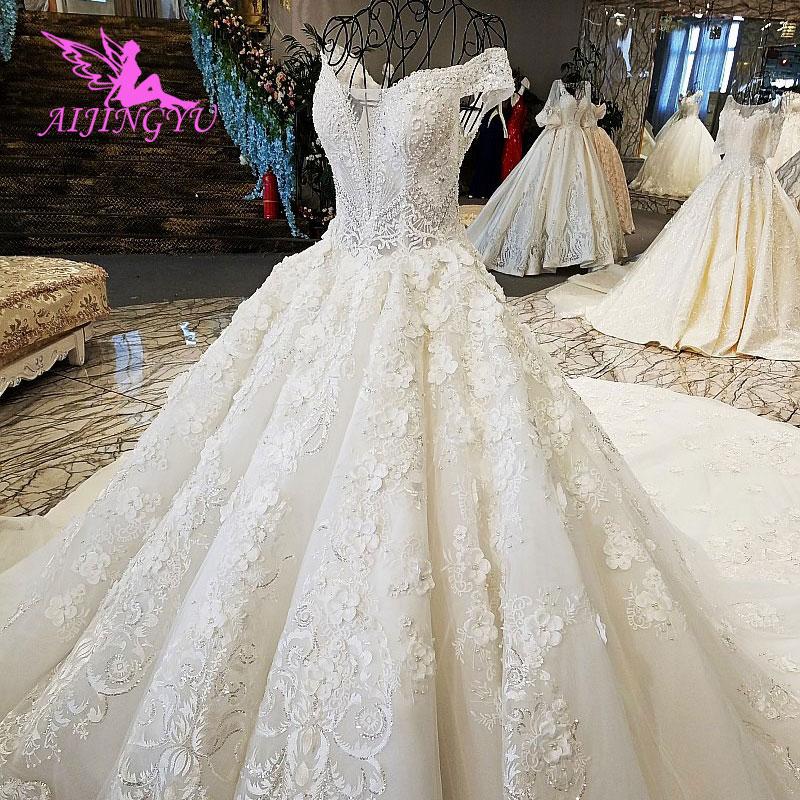 Image 4 - AIJINGYU Wedding Dress Retro Norway Ball Prices White Simple Lace Luxury Gowns Wedding DressesWedding Dresses   -