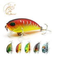 Купить с кэшбэком Thritop Crankbait Fishing Lures Wobblers Artificial Hard Bait 3D Eyes TP067 5cm 7g 5 Various Colors Bassbait Accessories