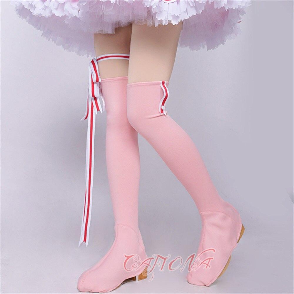 Cafiona новая карточка Captor Сакура КИНОМОТО Сакура красивый костюм для косплея девочек розовое платье на заказ - 6