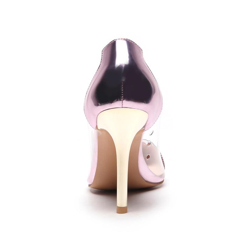2018 Mariage Taille Plus Or Profonde on Pointu 48 Slip rose Argent Chaussures Femmes Bout Talons Pompes Or Robe Peu De Hauts argent La Sexy 33 Kcenid Pvc f1qzxZw