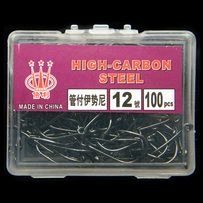 100 Piece / Box of High Carbon Steel Hooks with Hooks Lake Marine Fishing Hooks Efficient Barbed Fishing Hook-in Fishhooks from Sports & Entertainment