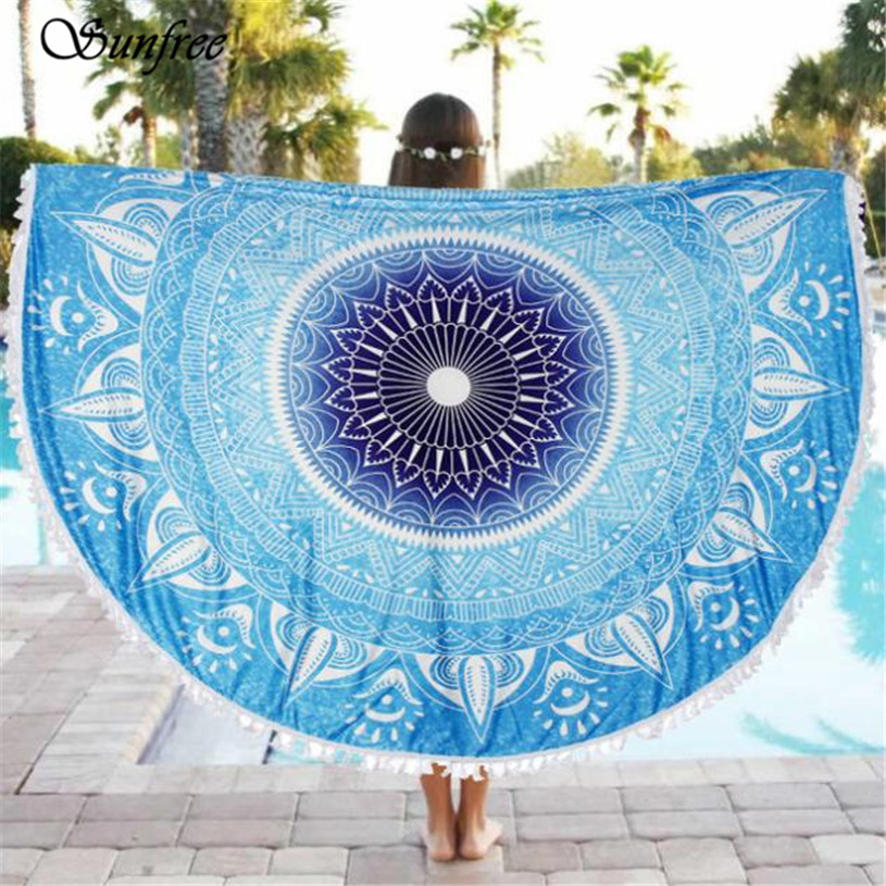 Sunfree 2017 HOT SALE Round Beach Pool Home Shower Towel Blanket Table Cloth Brand New High Quality Jan 16