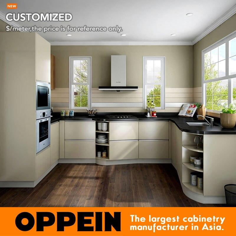 Oppein Modern Wholesale Hpl Melamine Small Kitchen Cabinets Op16 Hpl02