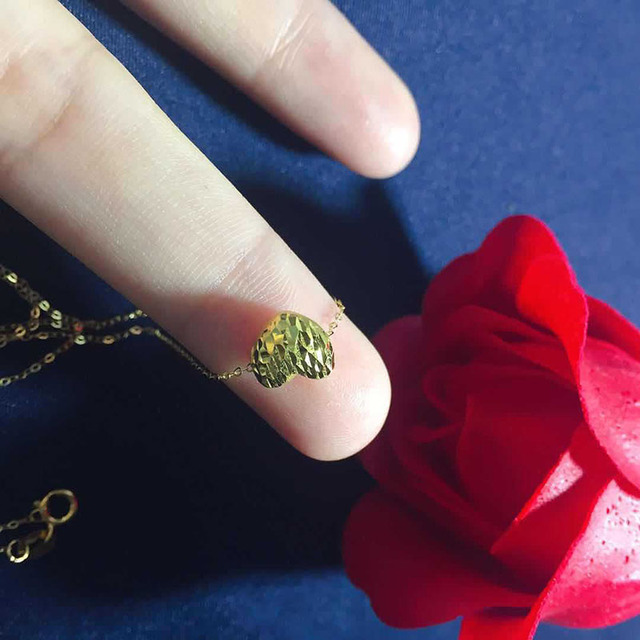Jewelry 24K gold   3D/999% gold Necklac Wedding gifts HI007 4