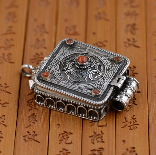 S925 sterling silver pendant wholesale nepal handmade buddhist s925 sterling silver pendant wholesale nepal handmade buddhist shurangama mantra can open a aloadofball Image collections