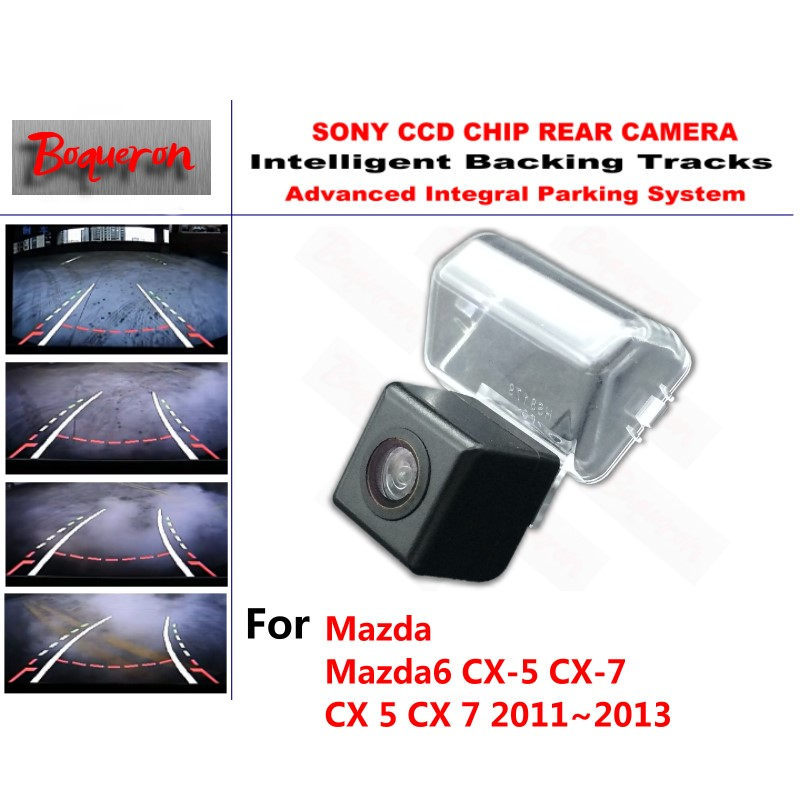 for Mazda 6 Mazda6 CX-5 CX-7 CX 5 CX 7 11~13 CCD Car Backup Parking Camera Intelligent Tracks Dynamic Guidance Rear View Camera for mazda cx 3 cx 3 cx3 2014 2015 smart tracks chip camera hd ccd intelligent dynamic parking car rear view camera