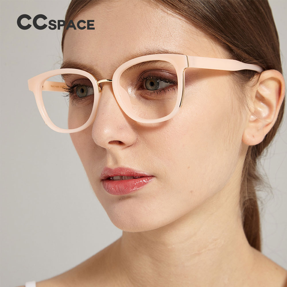 45516 Ladies Cat Eye Glasses Frames Men Women Metal Reinforcement Optical EyeGlasses Fashion Eyewear Computer Glasses
