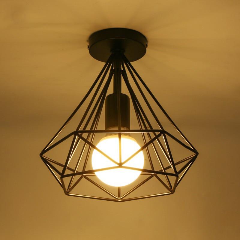 moderní černá klec stropní světla železná minimalistická - Vnitřní osvětlení