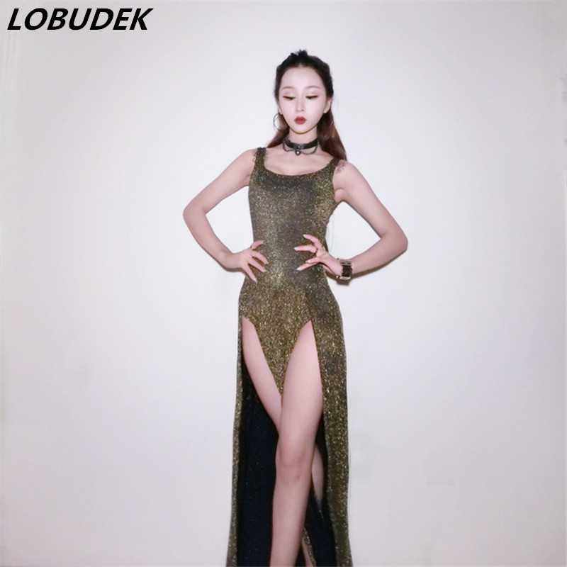 e9281b1d0 Buy Online Novelty Sparkly Female Singer Dancer DJ DS stage costumes  Nightclub Bar Teams Party Jazz dance performance dress sexy show wears For  Sale at ...