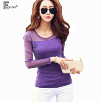 Autumn Winter Basic Tops New Hot Korean Style Designer Women Long Sleeve Bodysuit Ladies Sexy Purple