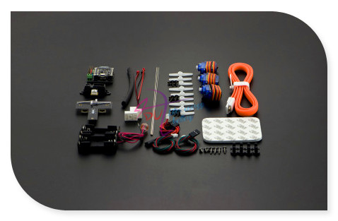 DFRobot Insectbot Hexa Robot Kit V2, 5~6.4V Bluno Beetle + Bluno Beetle Shield /w wireless Bluetooth Compatible with Arduino/iOS
