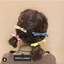 купить 1PCS Wholesale New Bowknot Hairpins Barrettes Kids Hair Accessories for Women Cute Girls Head wear Boutique Bow Solid Hair Clips дешево