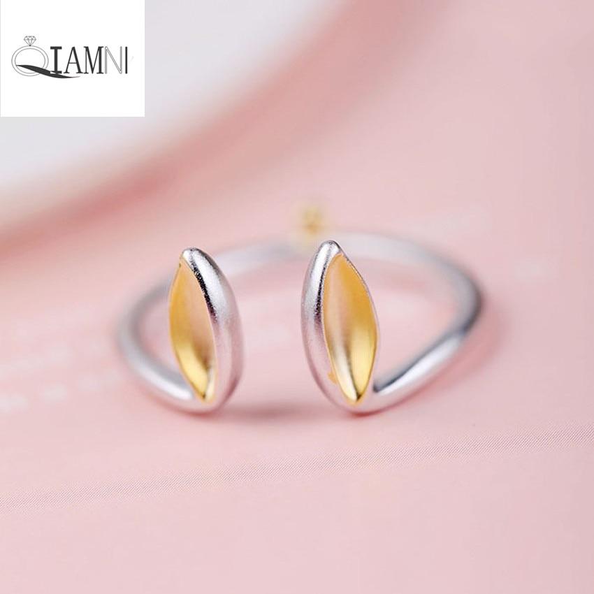 QIAMNI Adjustable Rabbit Ears Ring 925 Sterling Silver Christmas ...