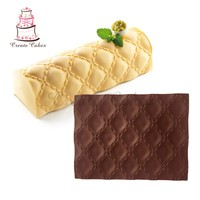 New Arrival Matelasse Texture Mat For Mousse Cake Silicone Mousse Cake Lace Mold Fondant Cake Mat