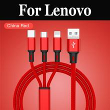 3in1 USB Type C Micro USB Cable Type-c Charger For Lenovo Moto G4 G5 Plus G5s G5 G5s Plus S5 K5 Note S5 Pro Z5 K5 Pro(China)