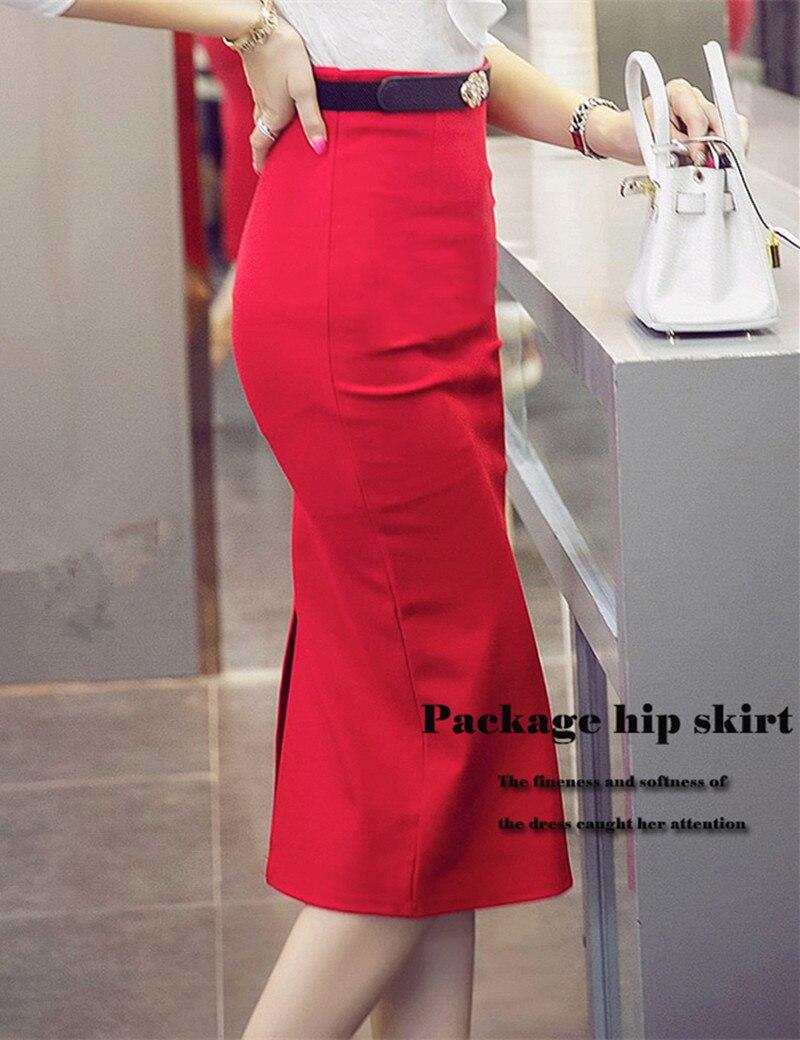 Aliexpress.com : Buy High Waisted Women Pencil Skirt Elastic ...