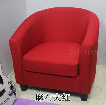 Европейский тканевая одноместная Софа стул интернет кафе кофе небольшой диван гостиничная комната кабинет компьютерный диван стул - Цвет: VIP 13
