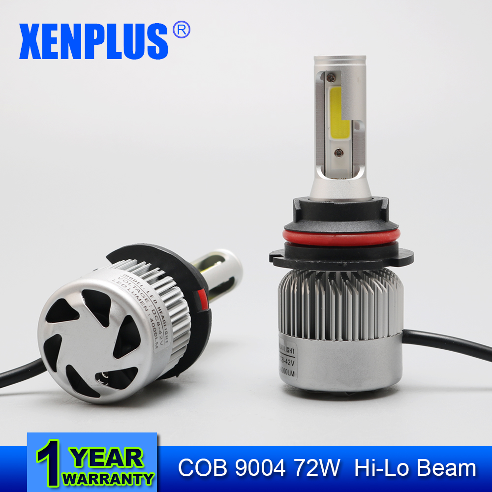 ФОТО Xenplus 2pcs 9004 Hi/Lo 72W 8000LM Car LED Headlight Bulb CREE SMD Chips 6500K All in One  Auto Led Headlamp Fog Light 12v 24v