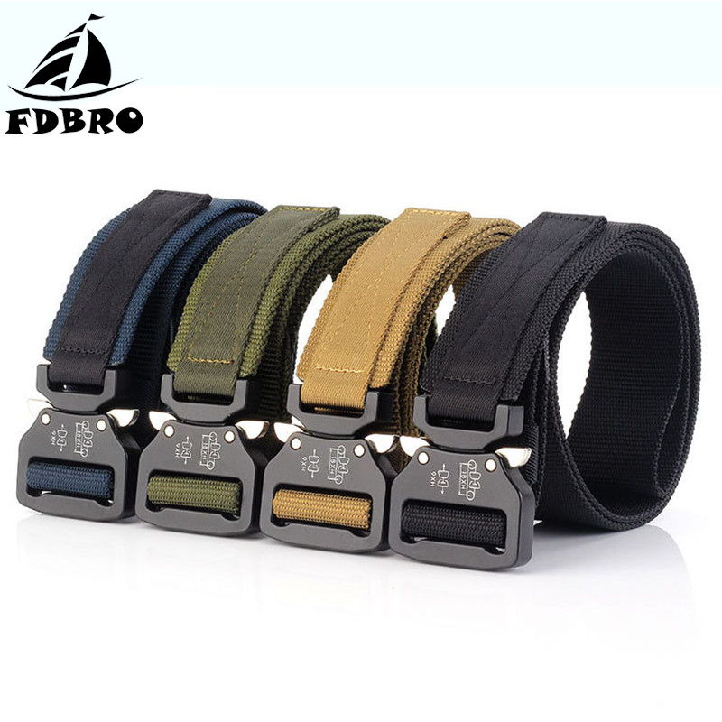 FDBRO Military Belt Tactical Belt Metal Buckle Nylon Waist Combat Belt Army Camping Hunting Sport Equipment Training BeltFDBRO Military Belt Tactical Belt Metal Buckle Nylon Waist Combat Belt Army Camping Hunting Sport Equipment Training Belt