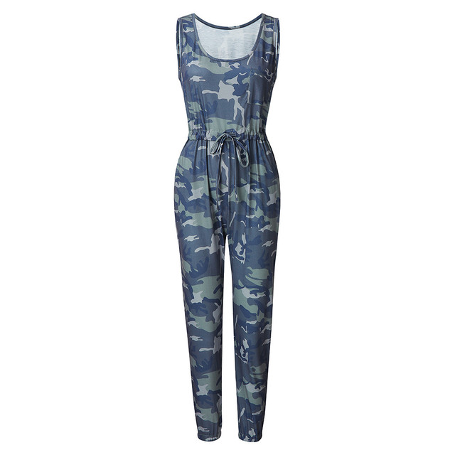 Camouflage jumpsuits women summer