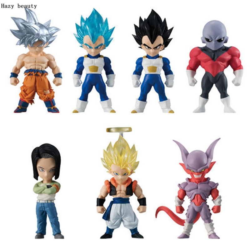 Hazy beauty Banpresto 7Pcs/Set Dragon ball Z DBZ Super Adverge 6 Vegeta Android no.16 Goku UI Gogeta Jiren PVC Figure Toys Dolls цена