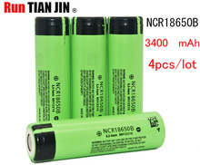 4 teile/los Neue Original 18650 NCR18650B Lithium-ionen-akku 3,7 V 3400 mAh  18650 battery Electronic cigarette power battery