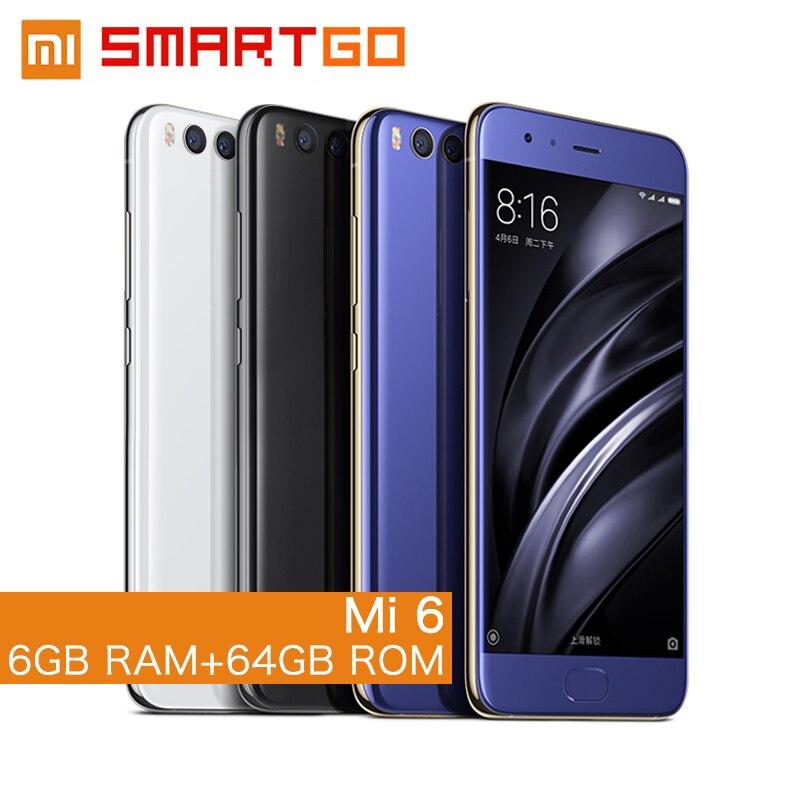 bilder für Original Xiaomi Mi6 handy 6 GB RAM 64 GB ROM Löwenmaul 835 Octa Core 5,15 ''NFC 1920x1080 Dual Kameras Android 7.1 globale