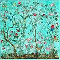 New130 * 130 Цветы и птицы джунгли шелковый атлас шарф для женщин Русский платок хиджаб шарфы с Одежды Обертывания платки A112