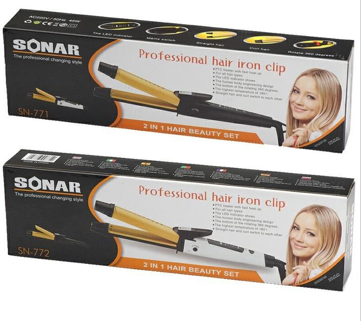 2 в 1 уход за волосами комплект, профессиональный утюг зажим для волос, большой и сортовые для волос, сухой и зарплата, щипцы для Saw, бесплатная доставка