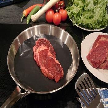 2pcs Teflon Pan Mat Non Stick Cooking Liner Sheet Wok Mats Kitchen Cooking Tools