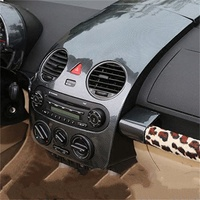 1pc Car stickers carbon fiber ABS material instrument panel decoration cover for 2003 2012 Volkswagen VW Beetle