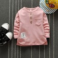 Buttons Pocket Kids Fashion Clothing for Boys Sweatshirts Patchwork Long Sleeved Tops O-neck Casual T Shirts Moleton Infantil