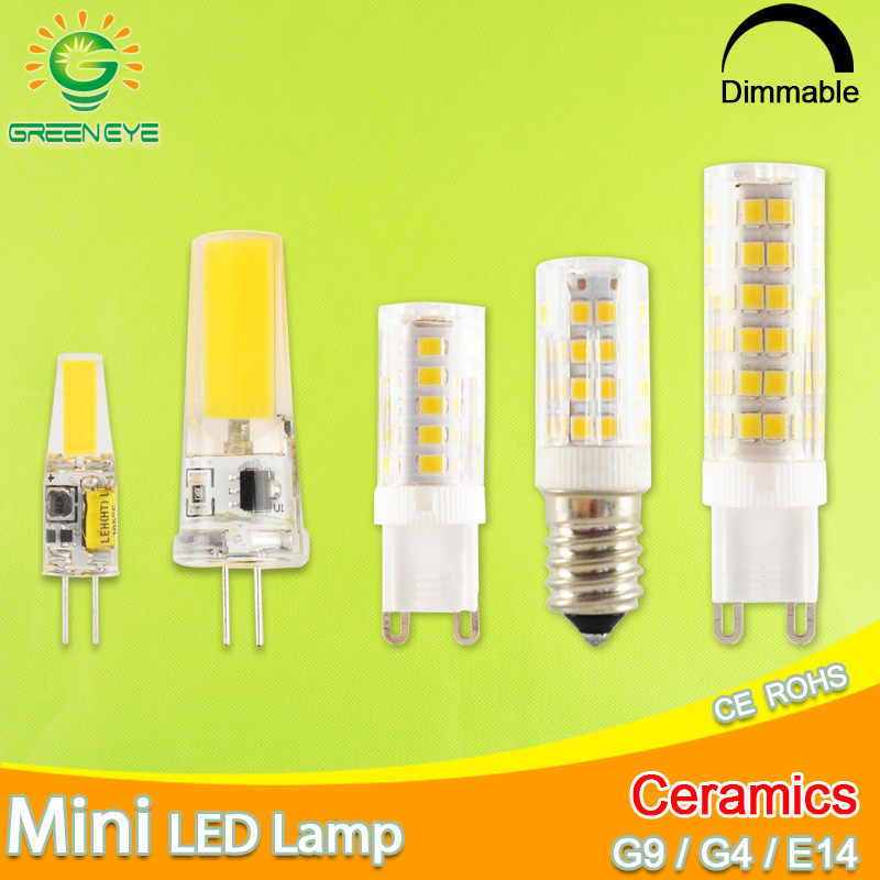 1pcs/5pcs LED Lamp G4 led bulb AC/DC 12V G9 LED 220V 240V 3W 6W 10W COB SMD LED G4 G9 replace Halogen Light Chandelier