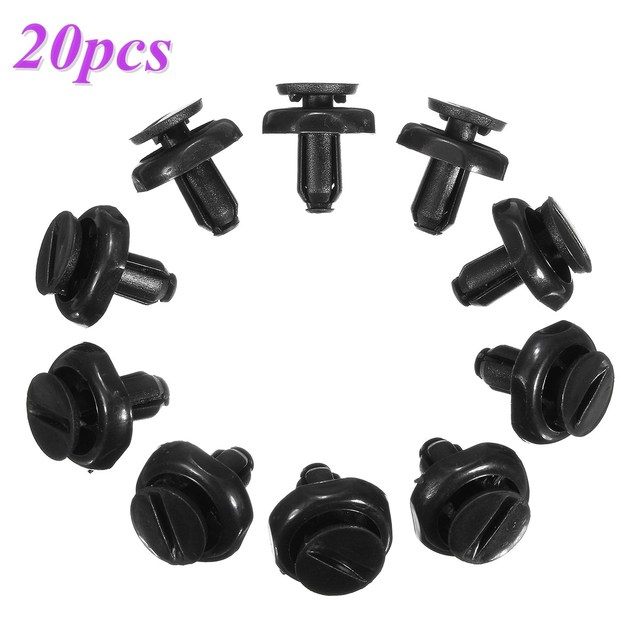 20pcs 7mm Black Radiator Engine Trim Cover Clips for Toyota Avensis 2003-2008 5325920030/53259-20030