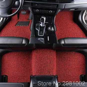 Customized universal car mats wire ring easy to clean carpet mats waterproof non-slip can be freely cut thick