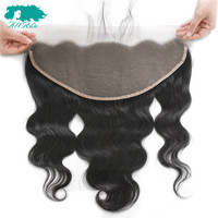 AllRun 13X6 Lace Frontal Brazilian Body Wave With Baby Hair Lace Closure Free Part Human Hair Closure Kim k Non Remy