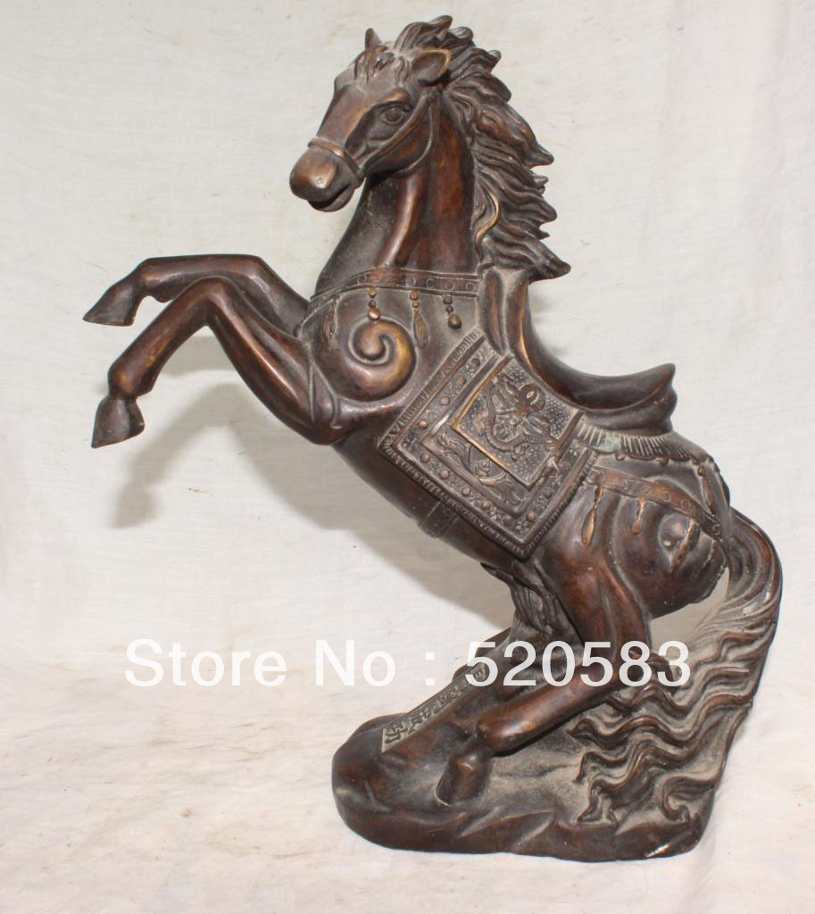 free 12 Marked Chinese Bronze Animal Successful Running Horse Dragon Words Statue fastfree 12 Marked Chinese Bronze Animal Successful Running Horse Dragon Words Statue fast