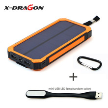 15000 mAh Portable Solar External Battery Pack Suit for iPhone 5 5s 6 6s 7 Samsung HTC Huawei Sony Nokia Motorola Xiaomi. sony cp s15 s 15000 mah