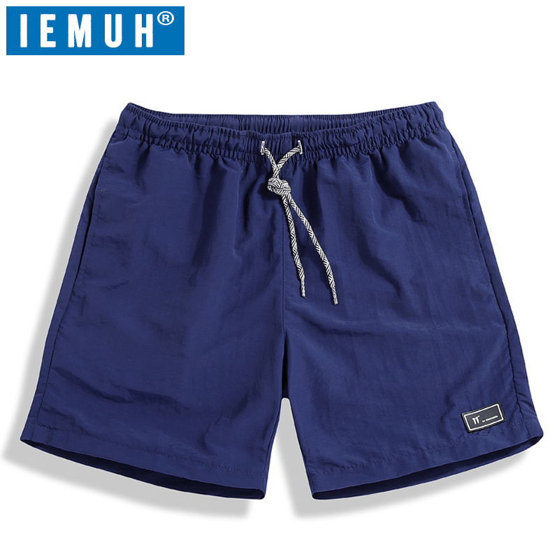IEMUH Board Shorts Elastic Waist-Fashion Waterproof Mens Summer Solid Casual Brand-New
