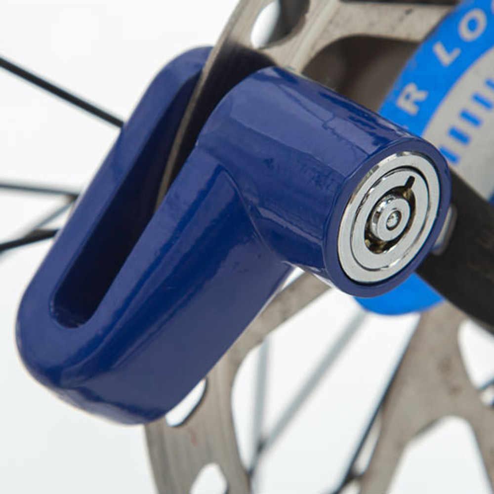 Keamanan Sepeda Lock Anti Pencurian Tugas Berat Motor Sepeda Motor Skuter Disk Rotor Sepeda Lock Candado untuk Bicicleta 2.62
