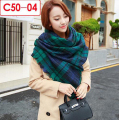 2017 Fashion Brand Plaid Cashmere Scarf Women Tartan Square Tassel Blanket  Wrap Jacquard Scarves and Shawls Tippet 140cm*140cm