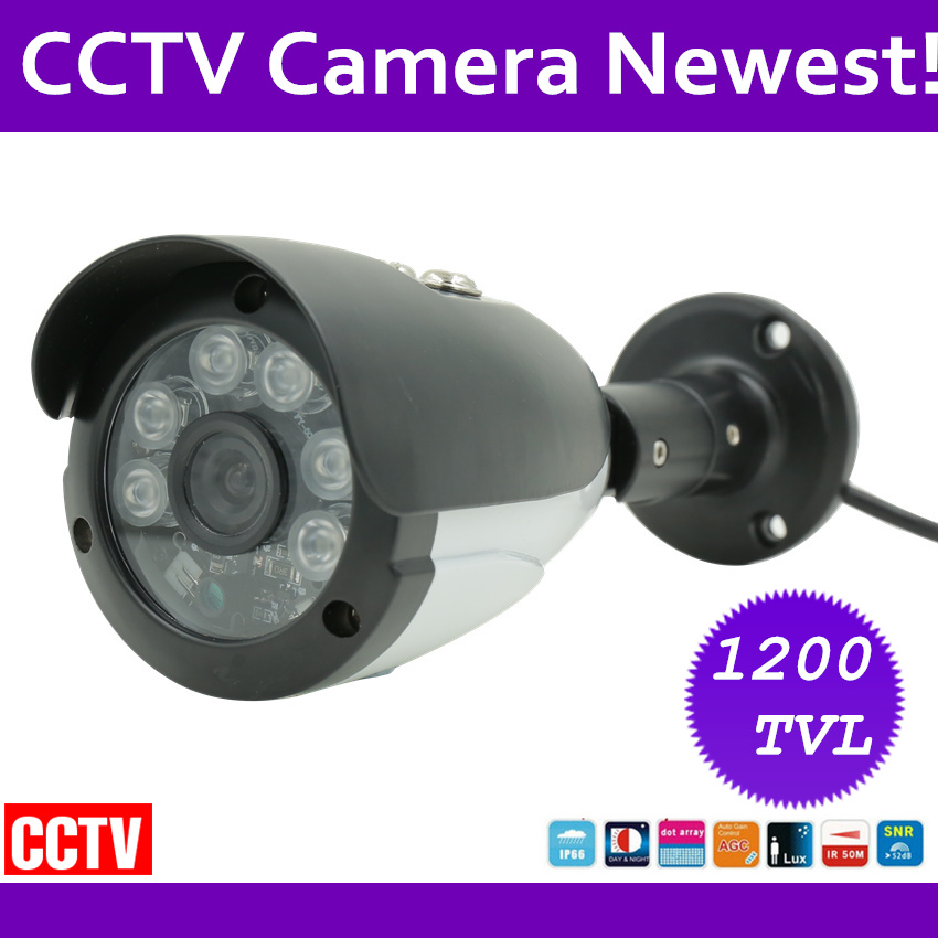 1/3 Sony CCD 1200TVL CCTV Camera HD Outdoor Bullet Waterproof IR-CUT 6IR leds mini Surveillance Security Camera free shipping new 1 3 sony ccd hd 1200tvl waterproof outdoor security camera 2 pcs array led ir 80 meter cctv camera