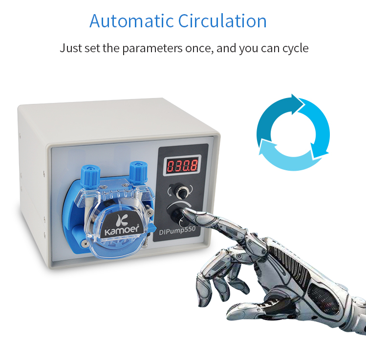 Kamoer DIP интеллигентая(ый) 24V перистальтический насос с внешним Мощность и силиконовая трубка Адаптер для перекачки жидкостей для лабораторий