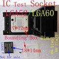 LGA60/LGA52 IC ТЕСТ ГНЕЗДО, Flash Сортировки/Сжигания/Сжигание в LGA socket, LGA60 к DIP48, Flash Размер 14*18/12*17, LGA Адаптер
