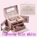 Frete grátis RU NOVO luxo brincos colar de pingente de exibição de jóias caixa de jóias de couro Prático gift packaging box 10 cores