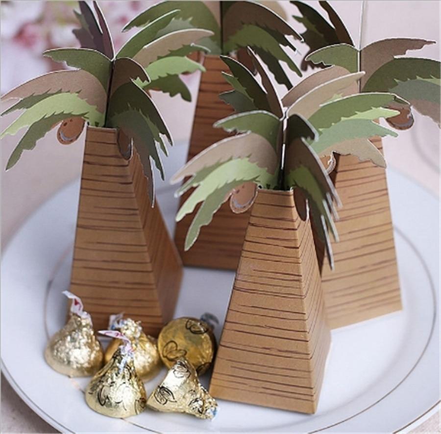 ჱNew Wedding Favor Candy Box Wedding Decor Coconut tree Event Party ...
