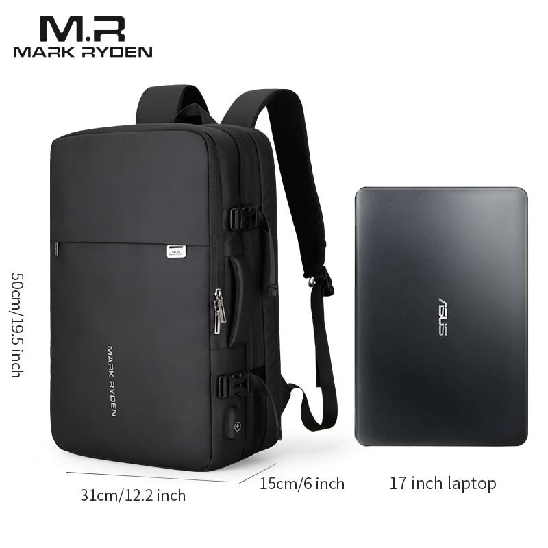 Mark Ryden Homme Sac À Dos Fit 17 pouces Ordinateur Portable USB Recharge Multi-couche Espace Voyage sac masculin Anti-voleur Mochila - 6